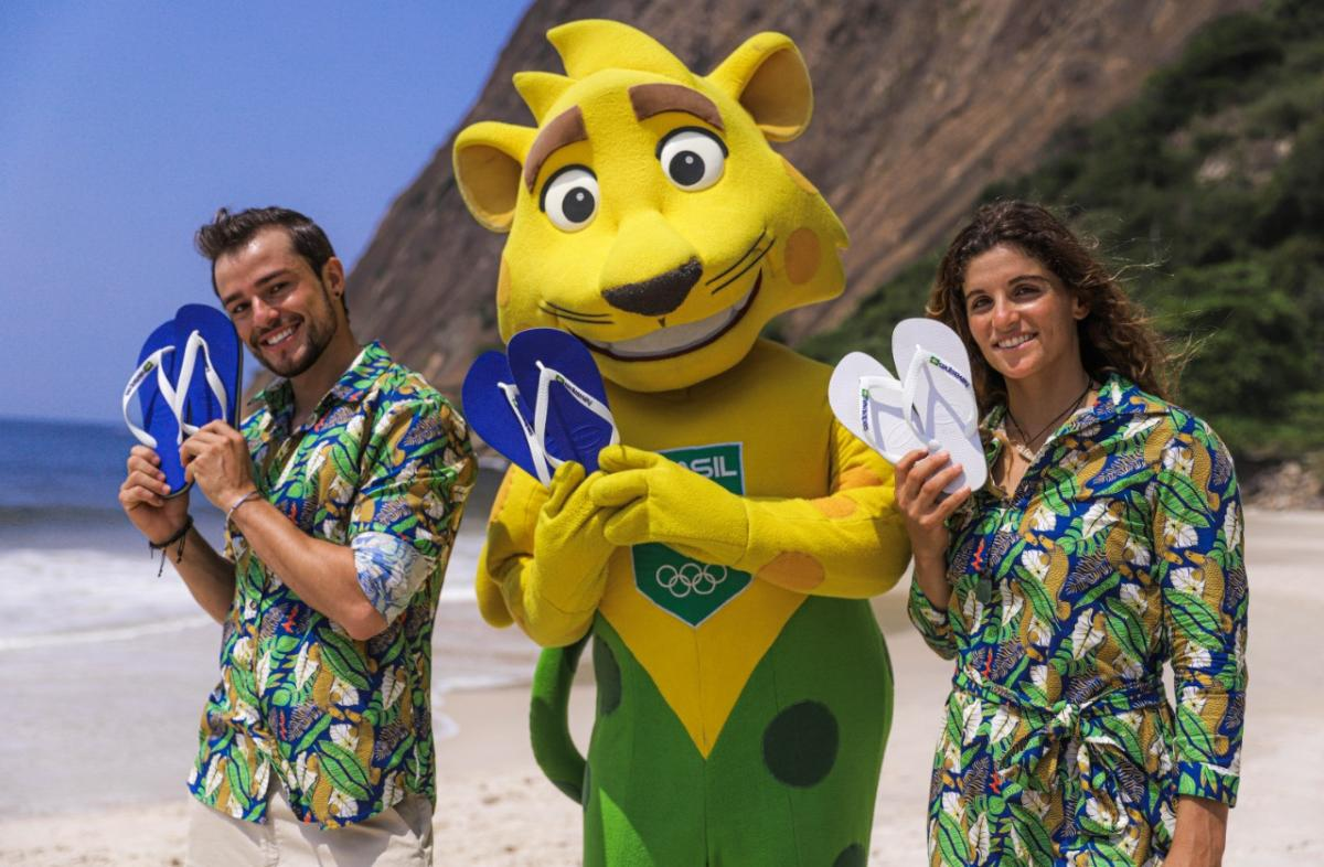 Havaianas is the new sponsor of the Brazilian Olympic Committee