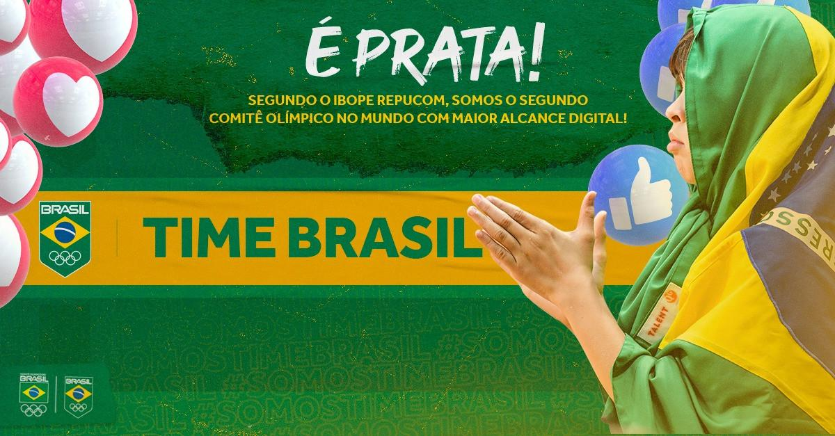 The Brazilian Committee stands out on the world podium in digital outreach