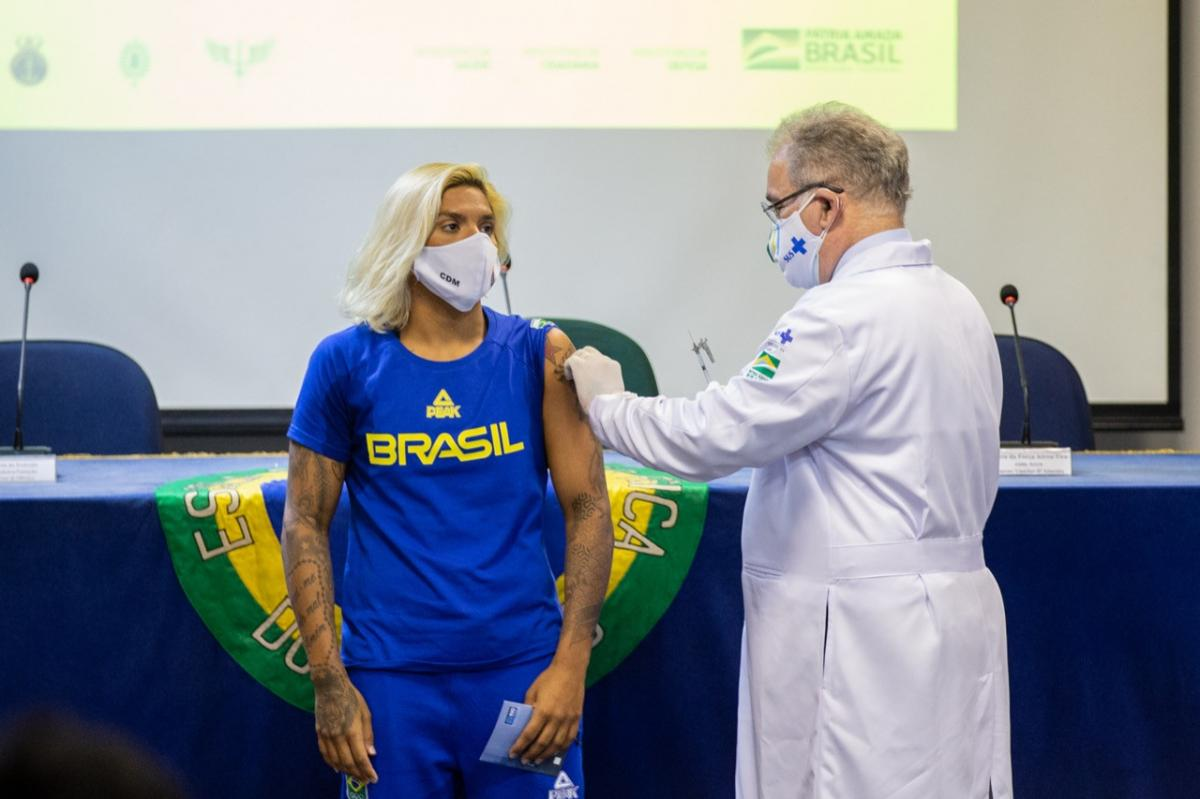 Brazilian delegation vaccination for the Tokyo 2020 Olympic Games begins