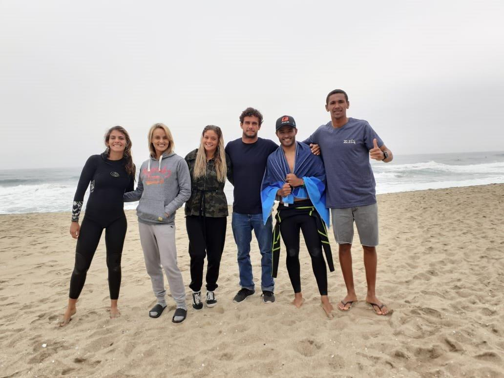 Atletas do surfe, longboard e SUP treinam em Punta Rocas, local de disputa do Jogos Pan-americanos Lima 2019